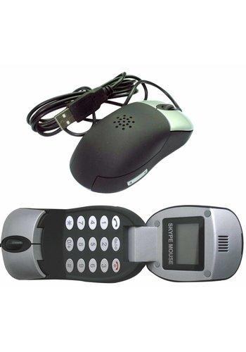 Gembird Optische muis met VoIP telefoon functie en LCD scherm