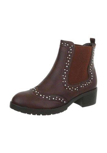 Neckermann Dames Chelsea Boots - donkerbruin