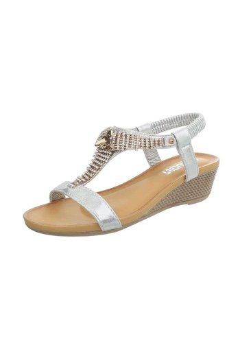 Neckermann Dames sandalen met sleehak - zilverkleurig