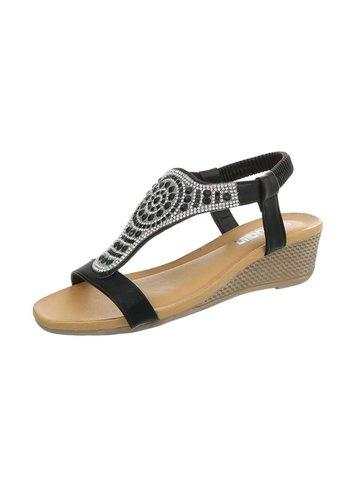 Neckermann Dames sandalen met sleehak - zwart