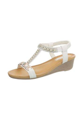 Neckermann Dames sandalen met sleehak - wit