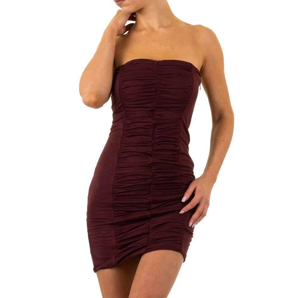 e1ea1fad1d1525 Dames strapless jurk - wijnrood - Neckermann.com