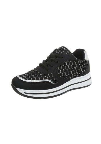 Neckermann Dames Sportschoen  -  zwart - wit