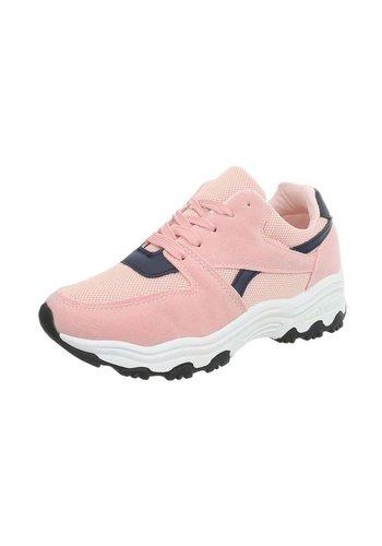 Neckermann Dames Sportschoen  -  roze/donkerblauw