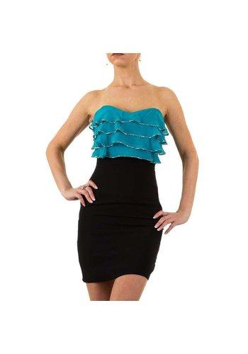 USCO Dames jurk van Usco -  donkerblauw/blauw