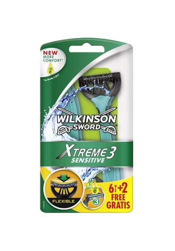 Wilkinson Scheermesjes - Extreme3 Sensitive - 8 stuks