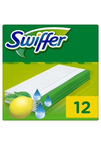 Swiffer Chiffons humides - Recharge - 12 pièces