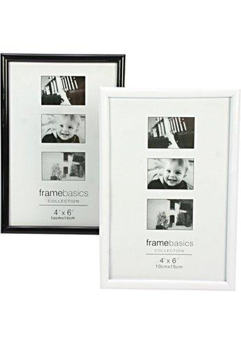 Neckermann Fotorahmen 10x15cm glänzend schwarz/weiss sort.