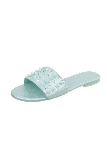 Neckermann Dames platte sandalen - blauw