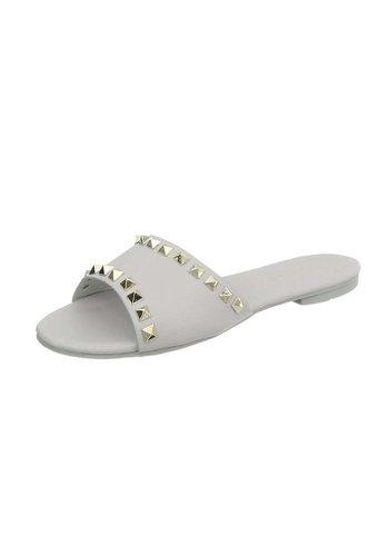 Neckermann Dames platte sandalen - grijs