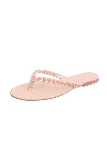 Neckermann Dames platte sandalen/slipper - roze