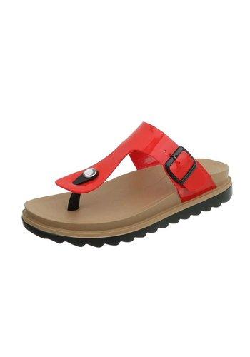 Neckermann Dames platte sandalen - rood
