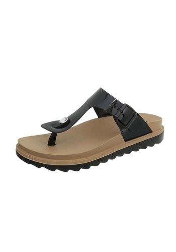 Neckermann Dames platte sandalen - zwart