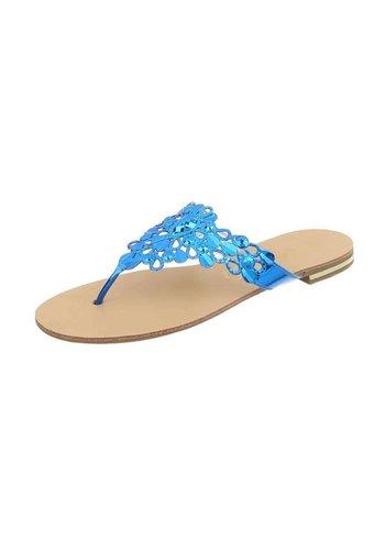 Neckermann Dames platte sandalen - royalblue