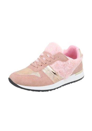 Neckermann Dames Sportschoen - roze met bontrand