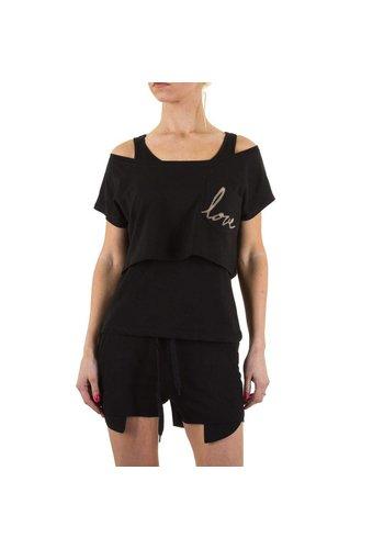 EMMA&ASHLEY DESIGN Damesshirt van Emma & Ashley Design - zwart