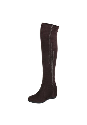 Neckermann Dames-over-de-knie laarzen - bruin