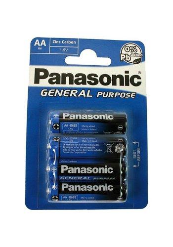 Panasonic Batterie PANASONIC R6 Mignon AA 4er Pack a.Karte