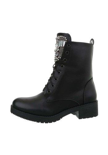 Neckermann Dames  hoge schoen met veter - zwart