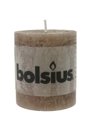 Bolsius RUSTIK Stumpenkerze 80x68 taupe