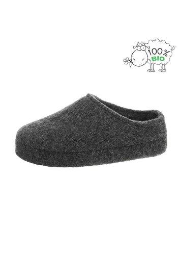 Neckermann Dames en heren pantoffel van echt wol - grijs