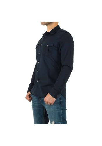 Neckermann Heren overhemd - navy blauw