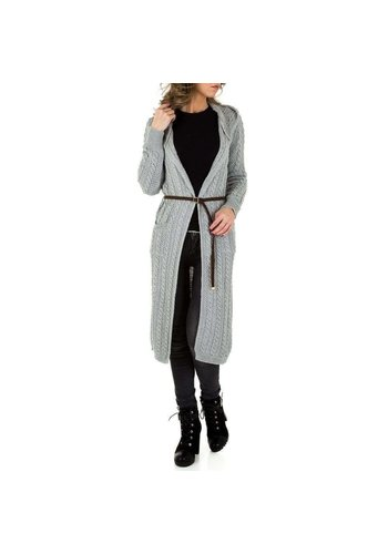 Neckermann Dames Mantel - 1 maat - lang - grijs