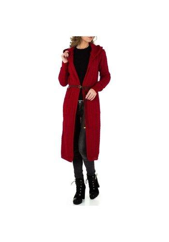 Neckermann Dames Mantel - 1 maat - lang - rood