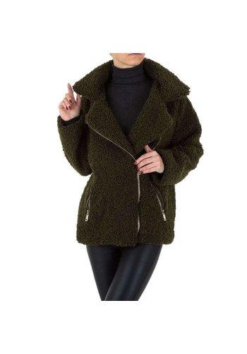 SHK PARIS Dames mantel van SHK Paris - olijfgroen