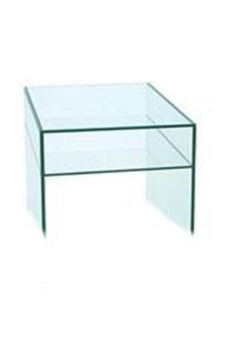 Neckermann Glas meubel - bijzettafel - 60x48 cm