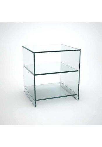 Neckermann Glas meubel - kastje - 60x48 cm