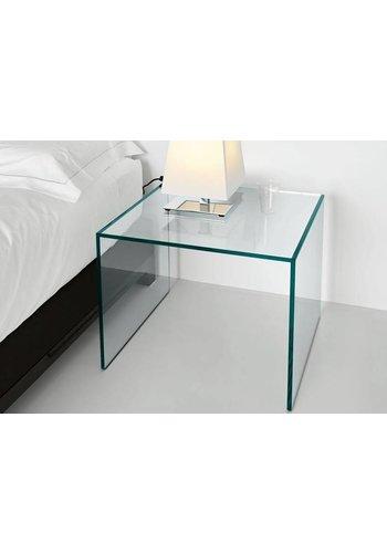 Neckermann Glas meubel - hoektafel - 30x30  cm