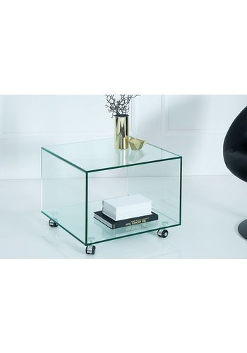 Neckermann Glas meubel (Ex wieltjes) - hoektafel - 40x33,5 cm