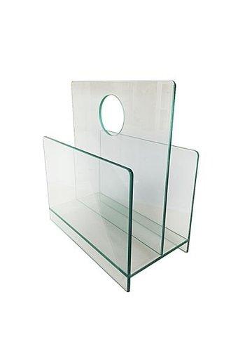 Neckermann Glas meubel - krantenbak - 17x37 cm