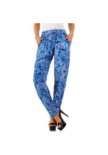 HOLALA Pantalon femme Holala - bleu avec un design gai