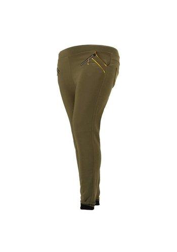 HOLALA Dames broek  van Holala. grote maten Khaki