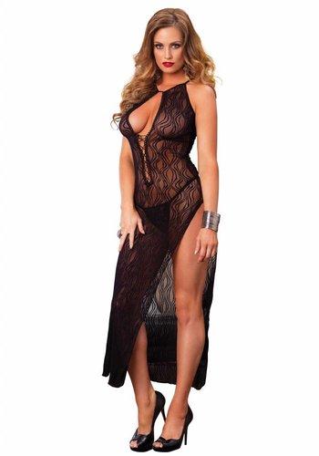 Leg Avenue Swirl Lace lange jurk