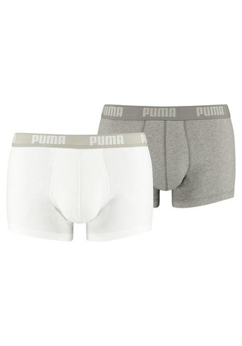 Puma Basic trunks -  2 Pack wit & grijs
