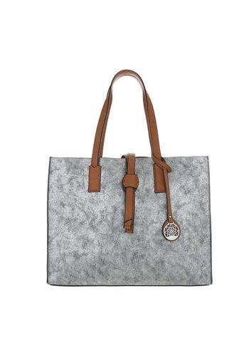 Neckermann Dames Shopper-zilverkleurig