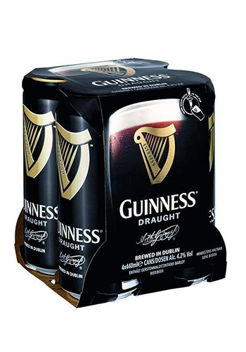 Guinness Bier 4-pack in blik  - 4x44cl