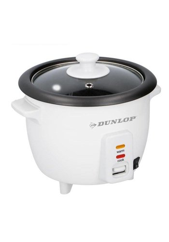 Dunlop Rijstkoker - 0,6L - 300W - 21x21x18cm