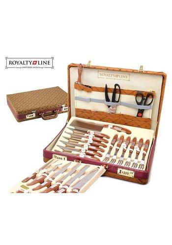 Royalty Line  Ensemble de couteaux 25 pièces - Dans une valise de luxe