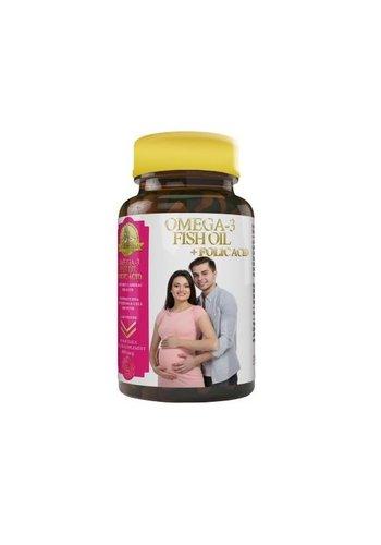 Halal Pharma Omega-3-Fischöl + Folsäure - 400 mg