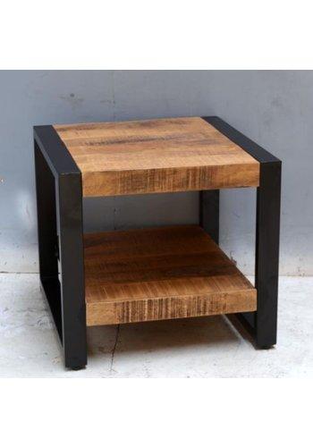 Neckermann Table d'appoint - bois de manguier - 45x50x50 cm