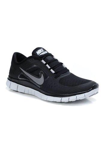 Nike Free Run 3 homme en cours d'exécution - noir-argent