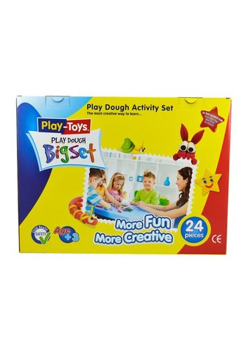 Play-Toys Play dough - Big Set - 24 stuks