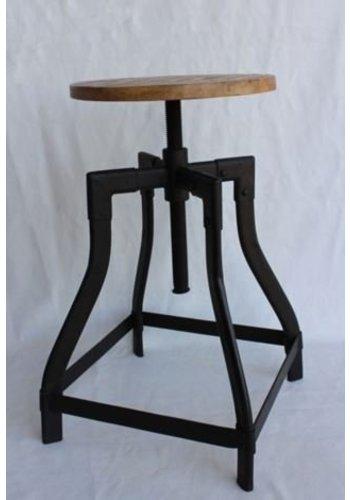 Neckermann Tabouret de piano - bois de manguier - 48x35x35 cm
