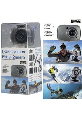 Neckermann Stunt camera - caméra d'action Etanche Full HD - 1080p