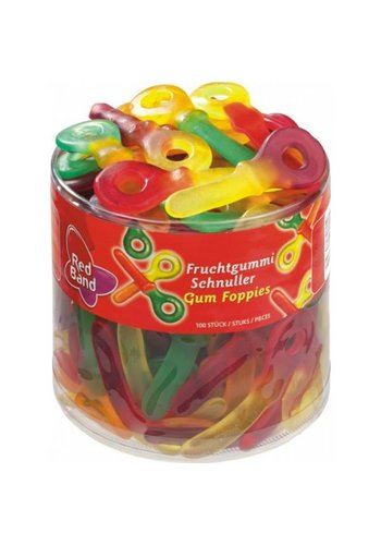 Red Band Winegum Foppies 100 pièces