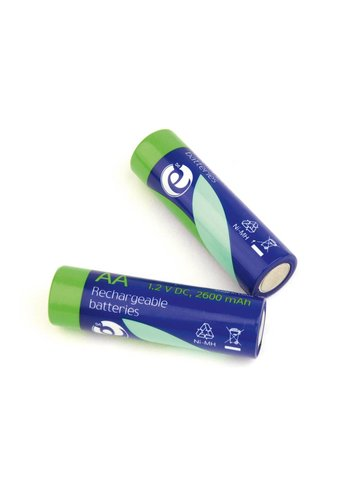 Energenie Ni-MH rechargeable AA batteries, 2600mAh, 2pcs blister pack